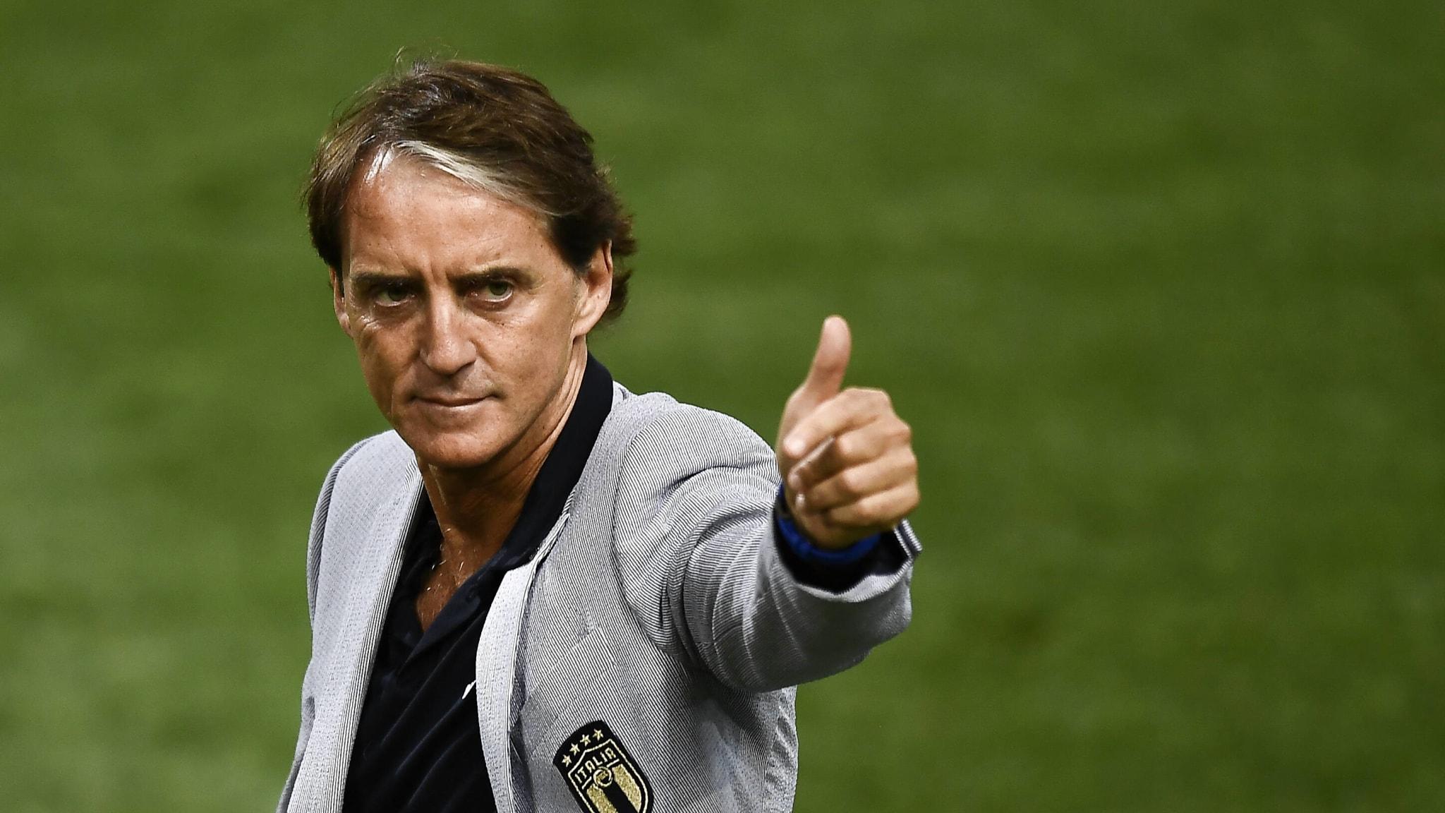 Italy coach Roberto Mancini.