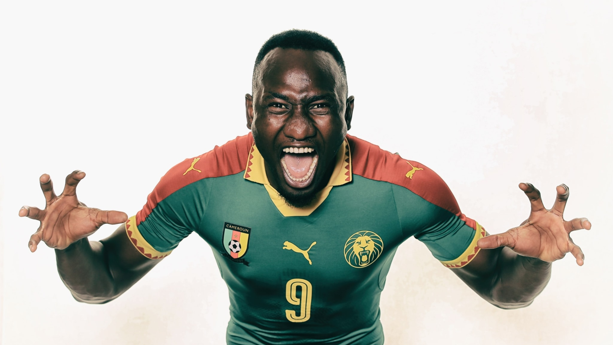Jacques Zoua of Cameroon during a portrait shoot ahead of the FIFA Confederations Cup Russia 2017.
