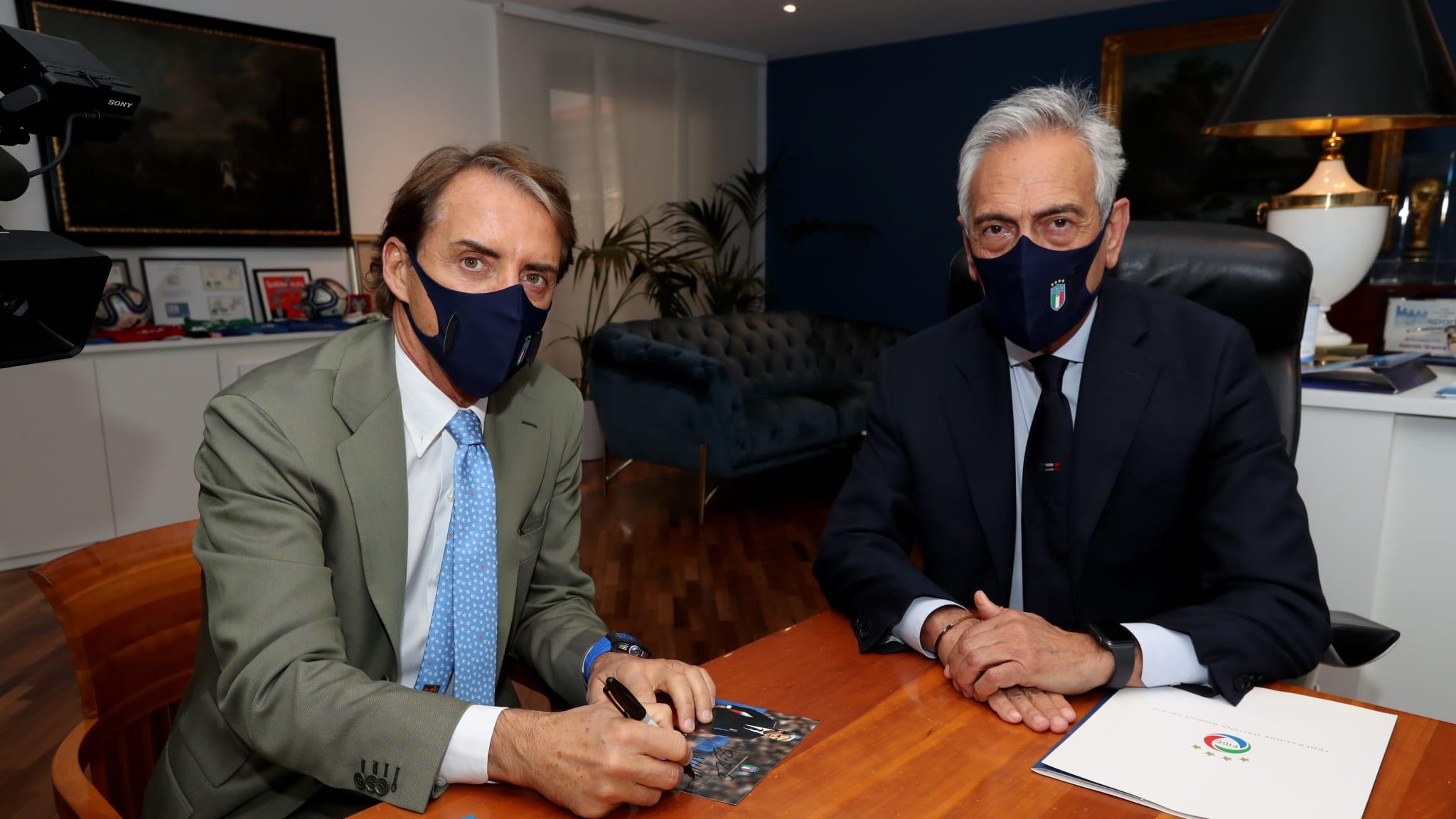 Roberto Mancini Signs a Contract Renewal as Italy Coach