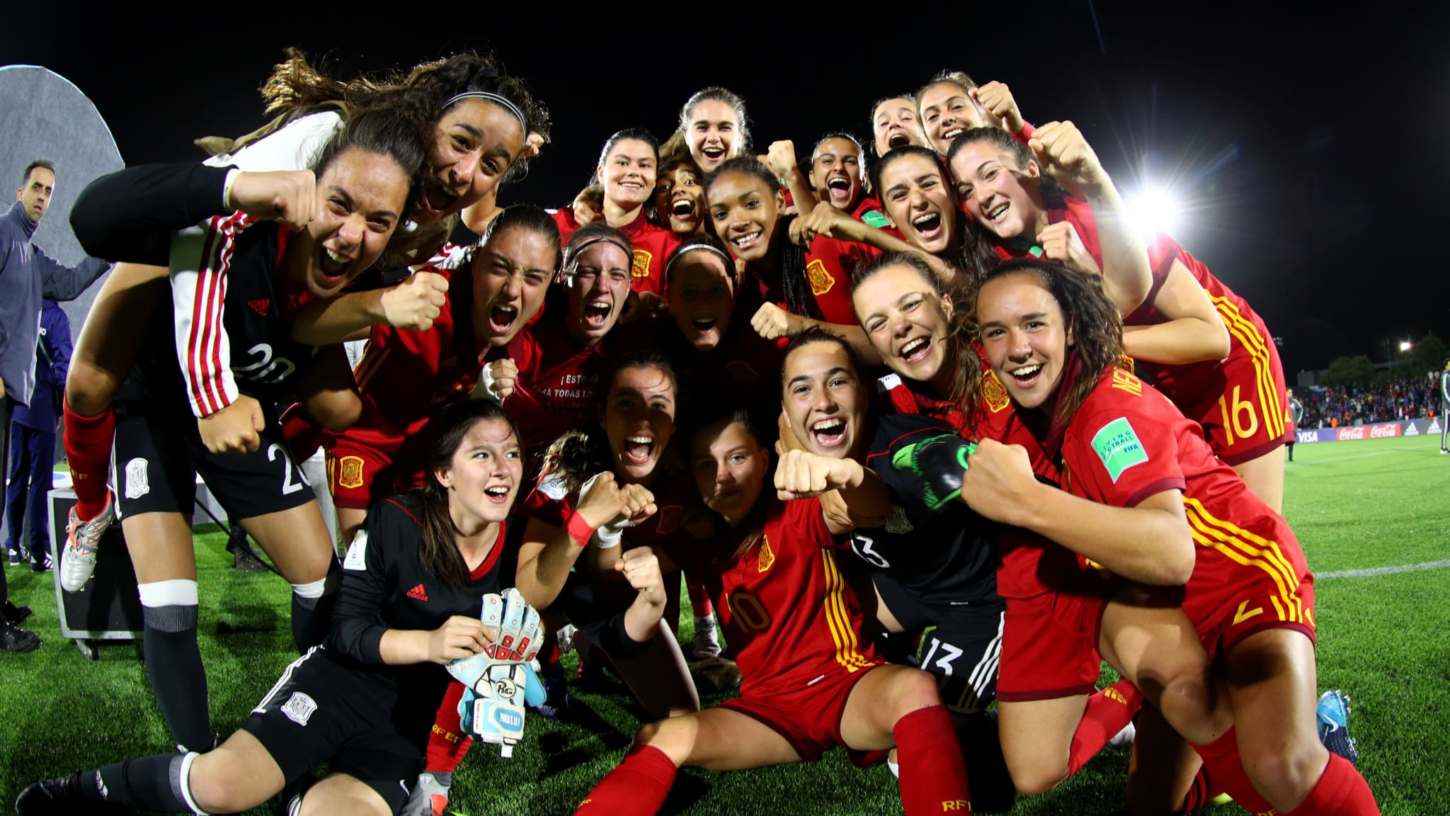 Spain celebrate after the final