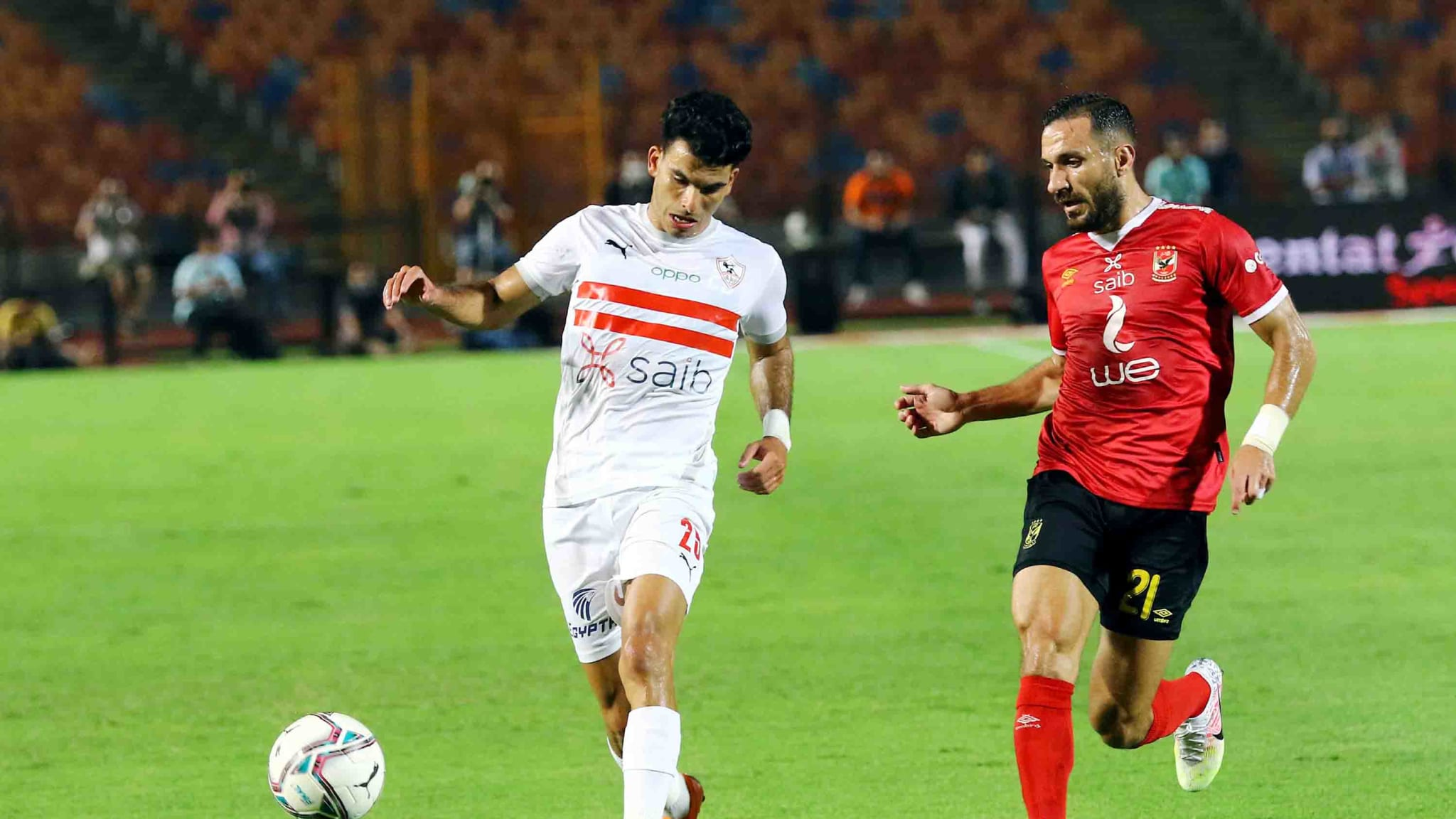 Al-Ahly and Zamalek competing for the CAF Champions League
