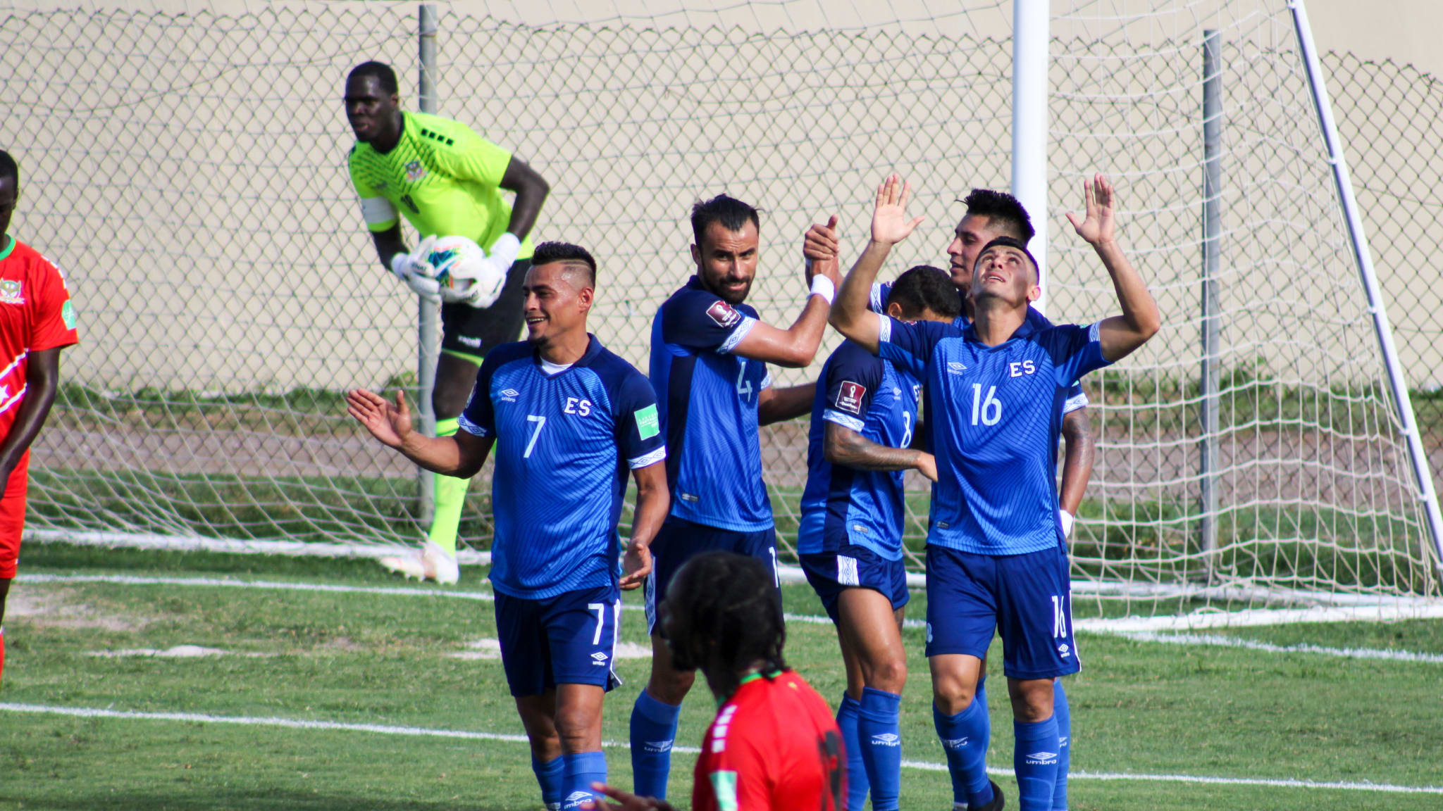 Image of the match between St. Kitts and Nevis and El Salvador as part of Concacaf Qualifier for Qatar 2022 (Photo: @LaSelecta_SLV)