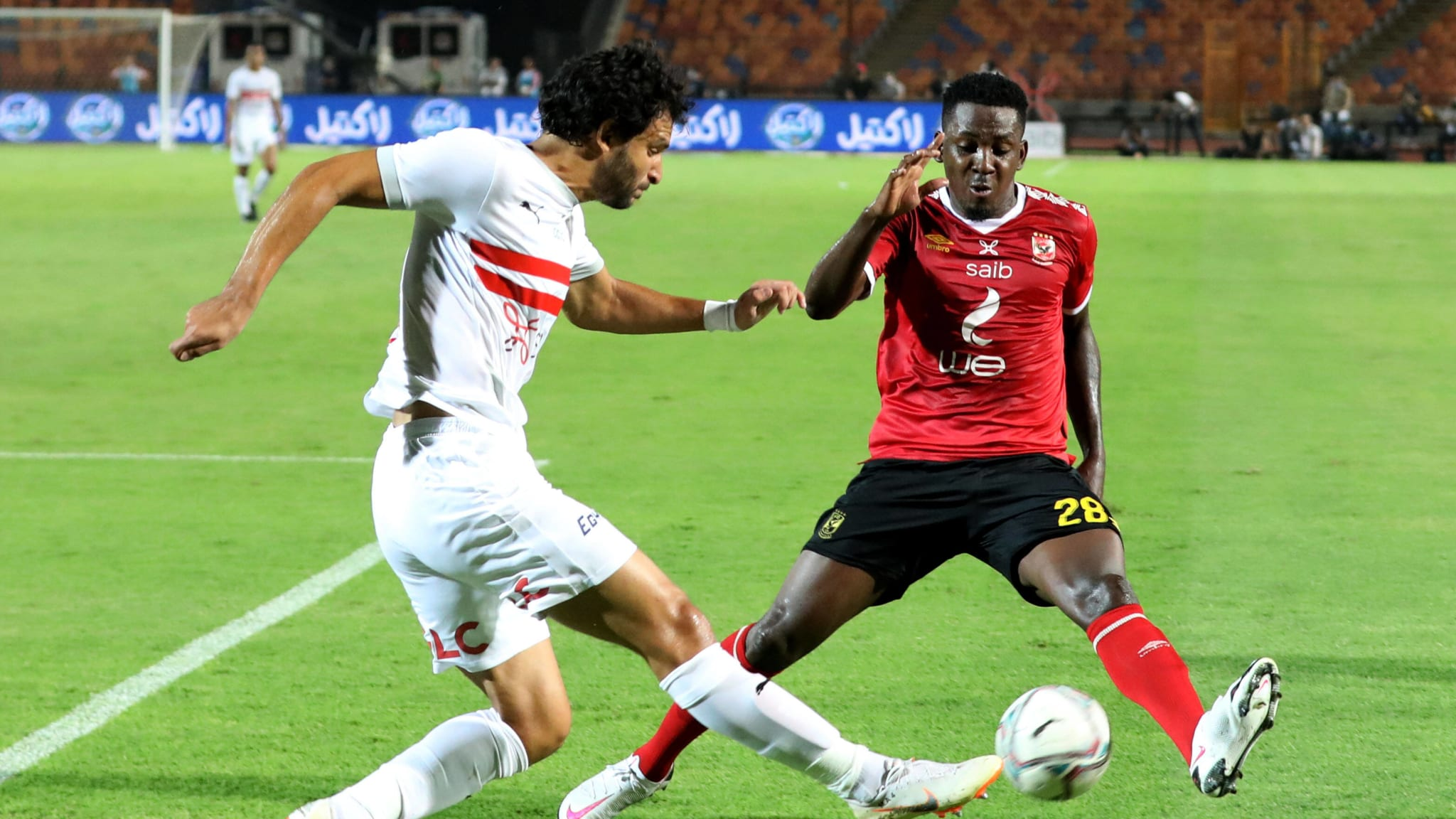 Junior Ajayi of Al-Ahly competes against Zamalek