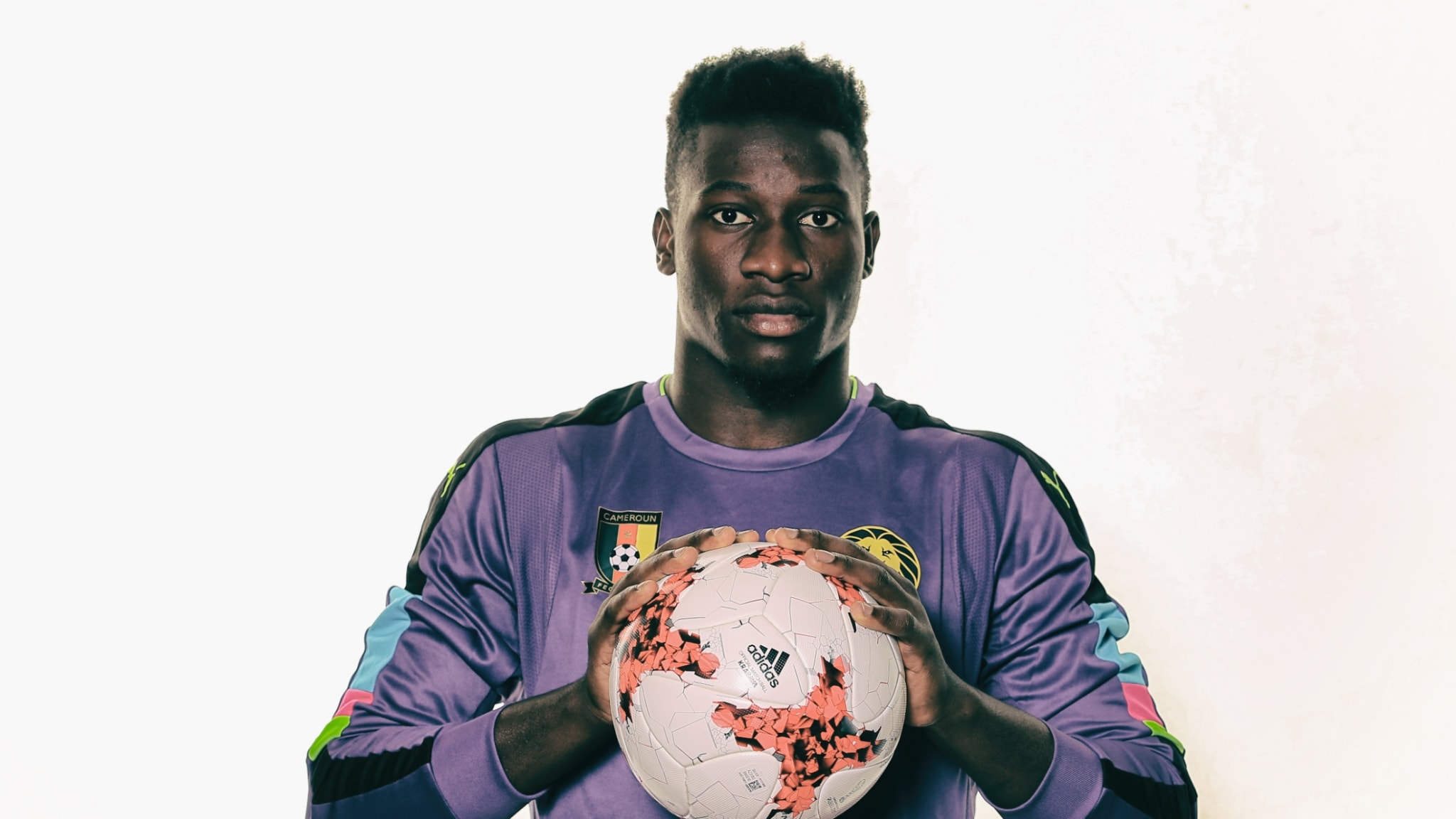 Andre Onana of Cameroon during a portrait shoot