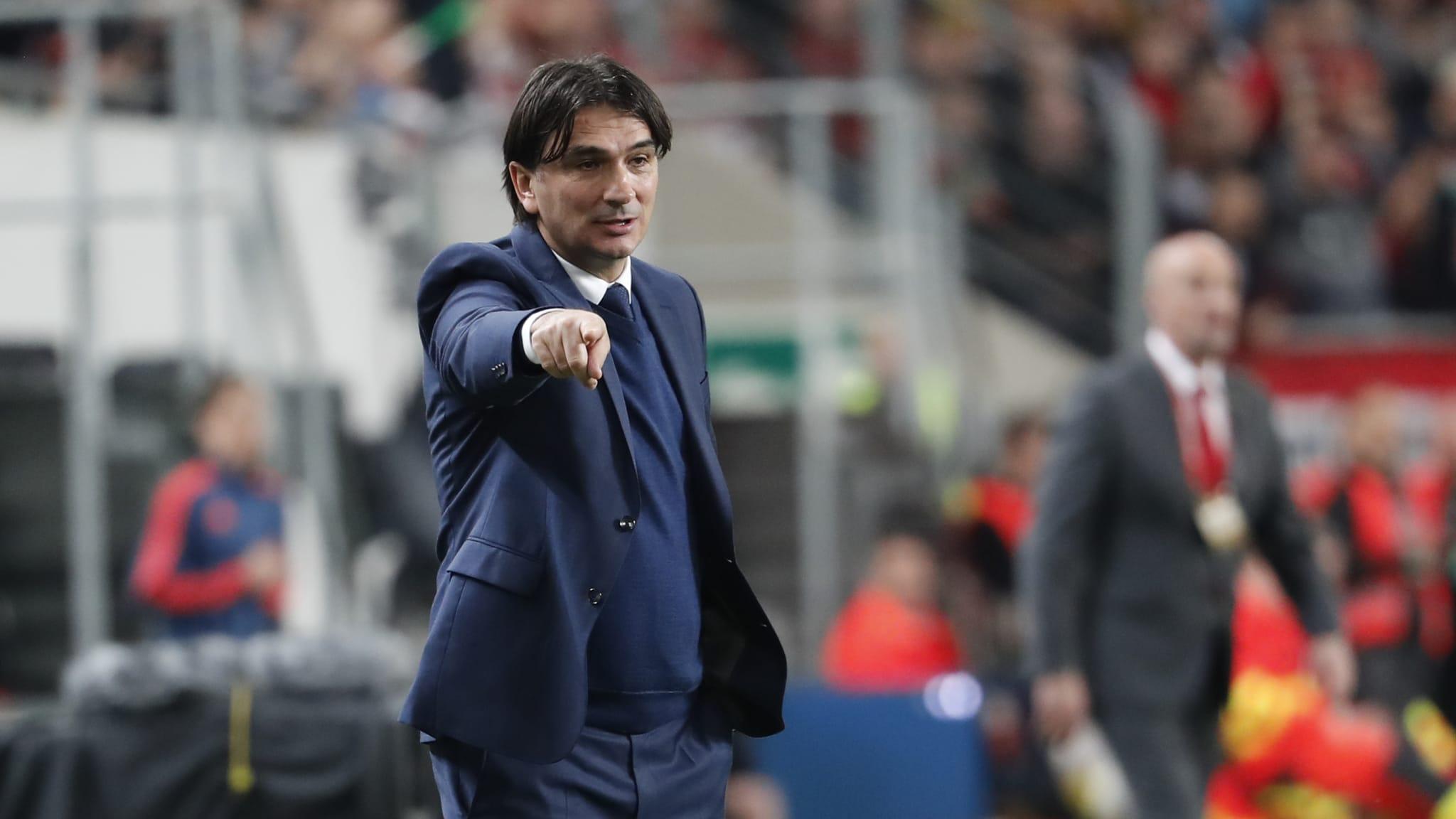Head coach Zlatko Dalic of Croatia reacts