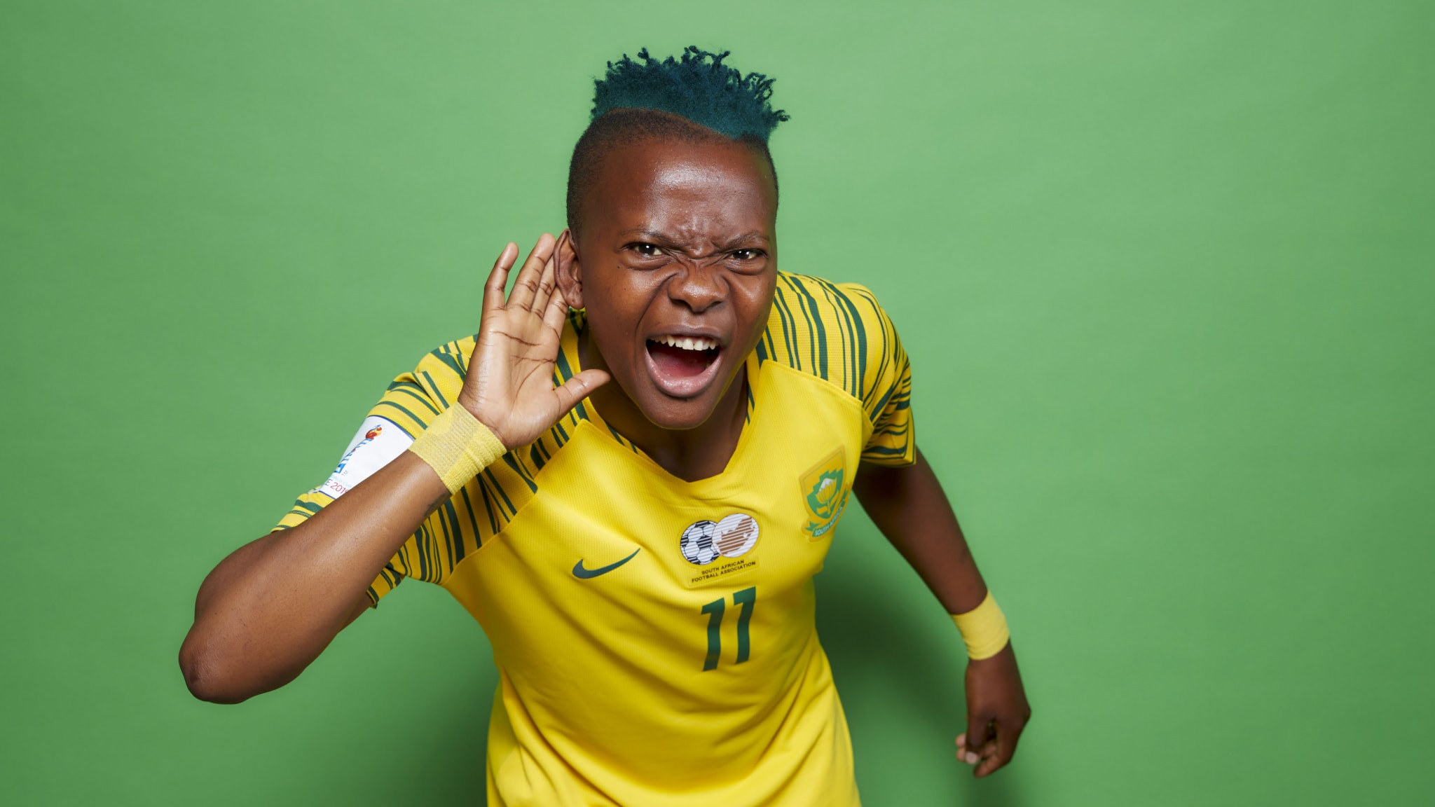 Thembi Kgatlana of South Africa poses for a portrait
