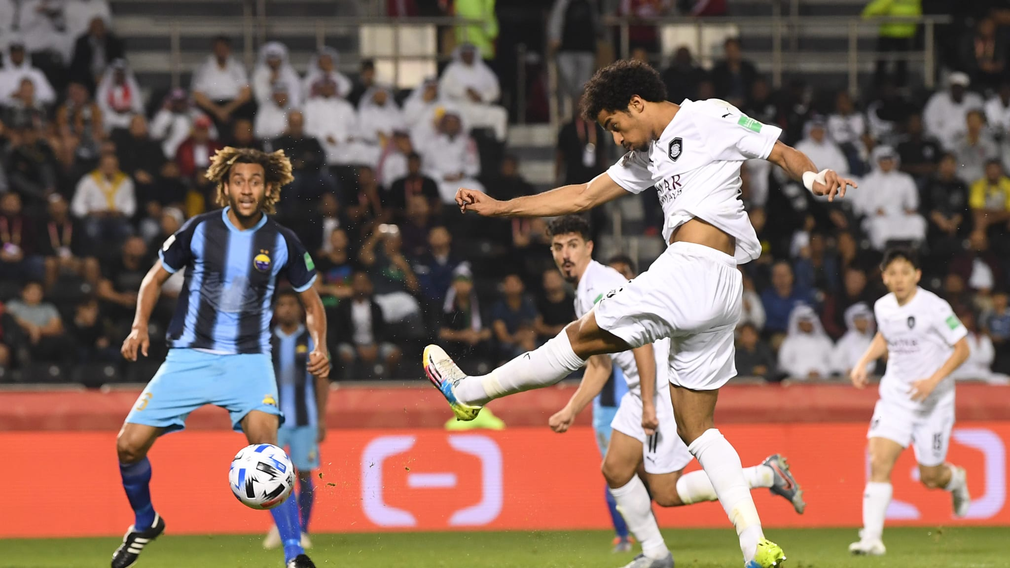 Akram Afif of Al-Sadd against Hienghene at FIFA Club World Cup Qatar 2019